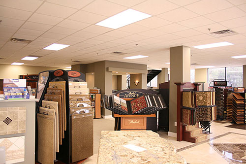Image of Idlewood Interiors' commercial interior renovation for their showroom just outside Atlanta GA