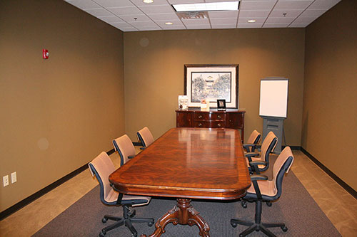 Image of Cabinet Resources' commercial interior renovation... a gorgeous conference room.