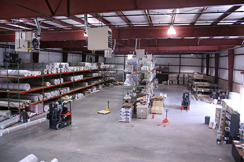 Image of Cabinet Resources' commercial interior renovation. This warehouse is designed for efficiency.